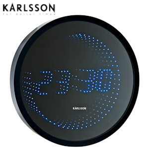karlsson ka4600 time roll mirror led designer wanduhr f r. Black Bedroom Furniture Sets. Home Design Ideas