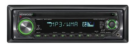 Kenwood KDC-W 3041 G Schwarz CD-MP3WMA, Grüne Tastenbeleuchtung