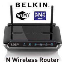 Belkin F5D8233-4 Wireless N Router mit MIMO-Technologie