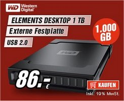 Western Digital Elements 1TB schwarz