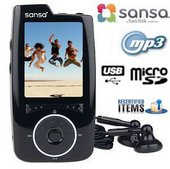 Sandisk Sansa 4GB Black Multimedia-MP3-Player Recertified