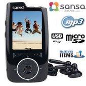 Sandisk Sansa 4GB Black Multimedia-MP3-Player Recertified