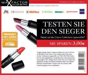 Max Factor 3 € Coupon