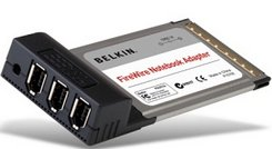 Belkin FireWire Card, 3x FireWire, Cardbus (F5U513ea)