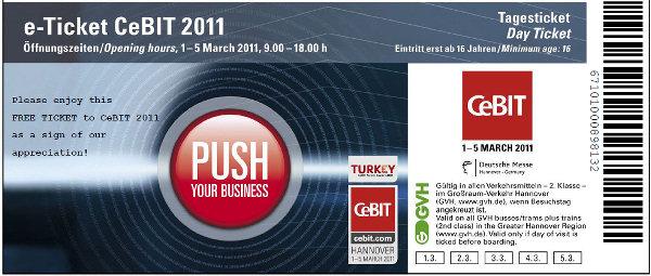 kostenlose Cebit e-ticket eintrittskarte weehaa