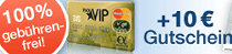 payVIP kostenlose Master Card Gold