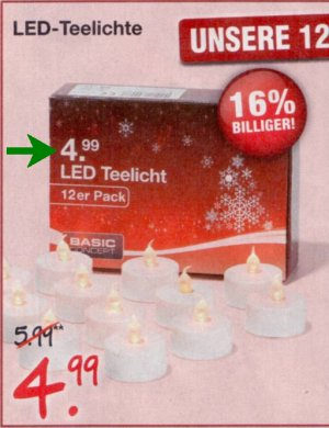 Angebot Fail woolworth led teelichter basic concept