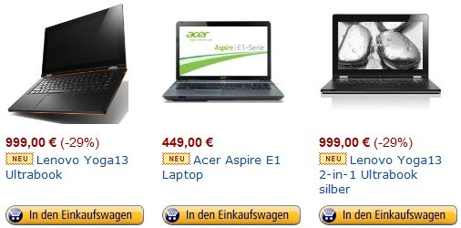 notebook tagesangebote amazon.de