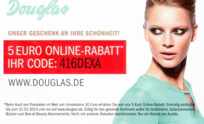 Douglas Online Rabatt