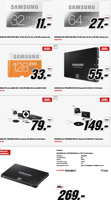 mediamarkt tiefpreissp tschicht sd karten und ssd. Black Bedroom Furniture Sets. Home Design Ideas