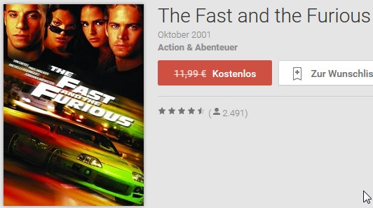 the fast and the furious gratis